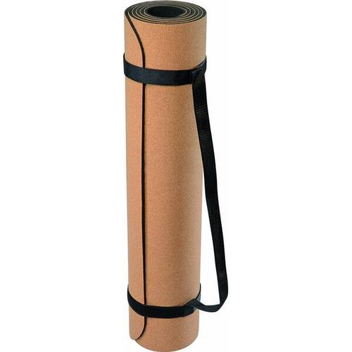 DEUSER Yoga-Matte (TPE) - kork/grau, Größe - in Braun