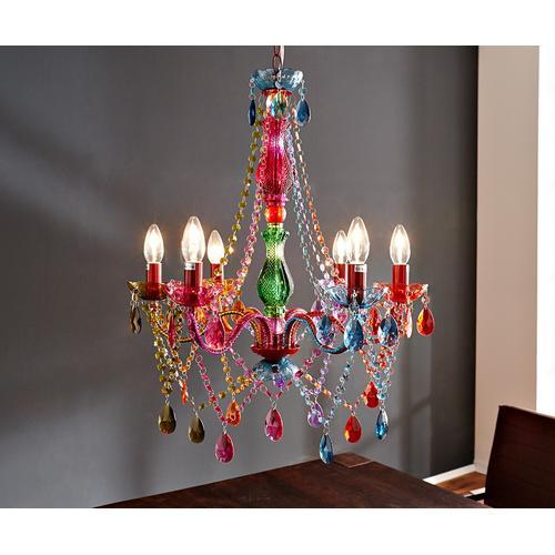 DELIFE Hängeleuchte Gypsy 55 cm Starlight-Multi-Rainbow Bunt, Kronleuchter