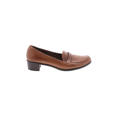 Ecco Flats: Brown Solid Shoes - Size 40