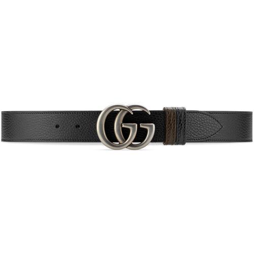 Gucci Breiter, wendbarer GG Marmont Gürtel
