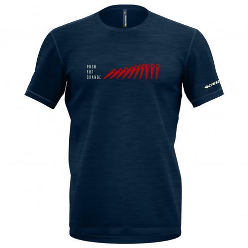 Crazy Idea - Joker - T-Shirt Gr M blau