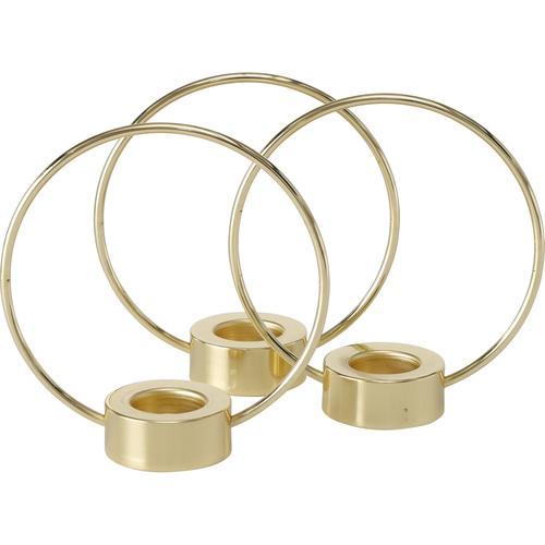 BOLTZE Teelichthalter Rumba, aus Eisen goldfarben Kerzenhalter Kerzen Laternen Wohnaccessoires