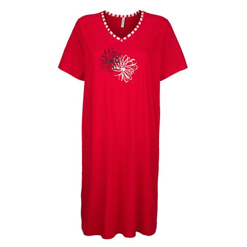 Nachthemd Comtessa Rot/Weiß/Schwarz