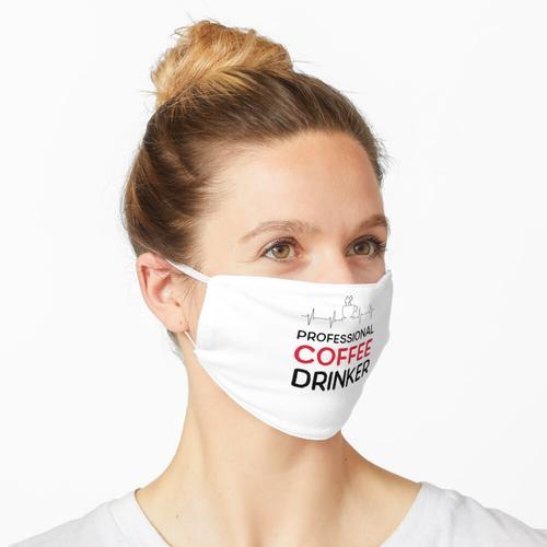 Professioneller Kaffeetrinker Maske