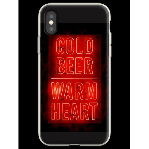kaltes Bier warmes Herz Flexible Hülle für iPhone XS