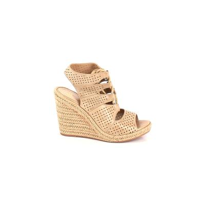 Johnston & Murphy Wedges: Tan Solid Shoes - Size 8