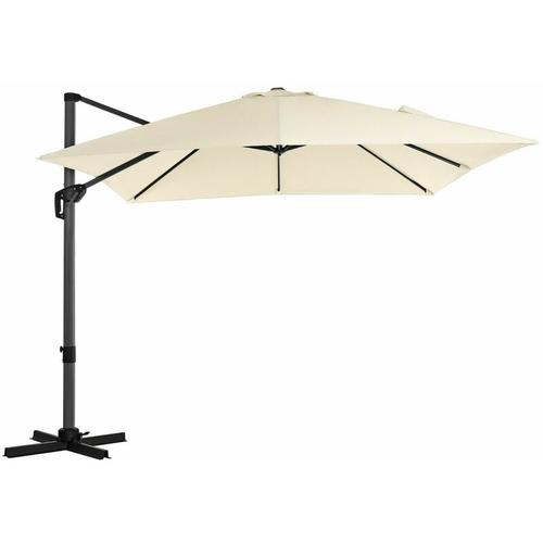 Sonnenschirm, Ampelschirm, 300 x 300 cm, quadratisch, Gartenschirm, UV-Schutz bis UPF 50+, um 360°