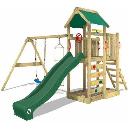 No_brand - WICKEY Spielhaus Spielturm MultiFlyer mit Schaukel & grüner Rutsche, Kletterturm mit