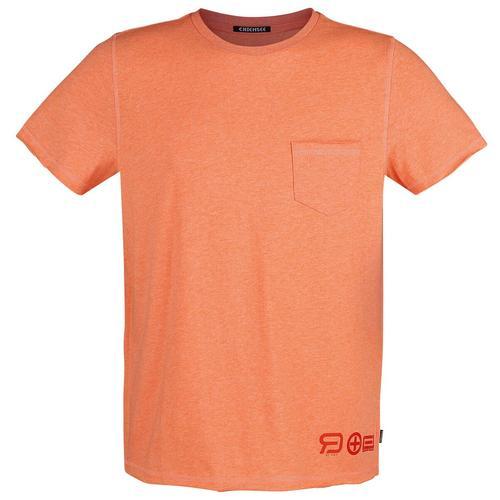 RED by EMP RED X CHIEMSEE - oranges T-Shirt mit Brusttasche Herren-T-Shirt - orange