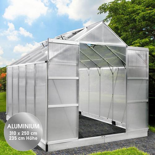 Brast - Aluminium-Gewächshaus 310x250x235
