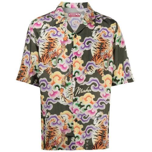 Maharishi Hemd mit Drachen-Print