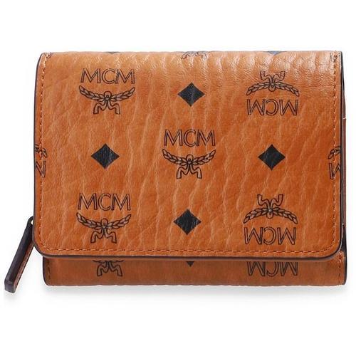 MCM Faltbare Brieftasche mit Logo
