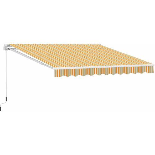 ® Markise Alu-Gelenkarm Gelenkarmmarkise 5 Farbe Sonnenschutz Balkon - orange/grau - Outsunny