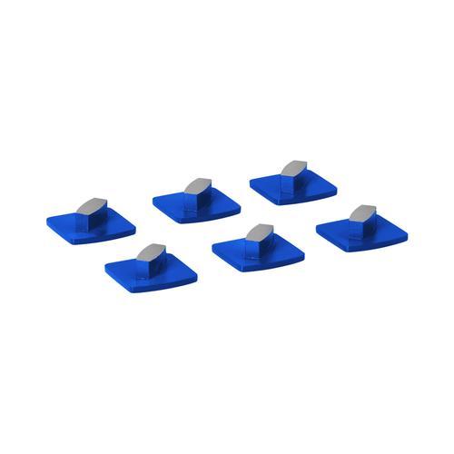 MSW Schleifsegment - für Beton - Körnung 30 - 1 Schleifelement - 6 Stück MSW-FGGP-1-6