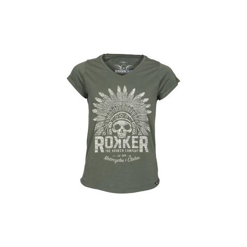 Rokker Indian Bonnet Damen T-Shirts L
