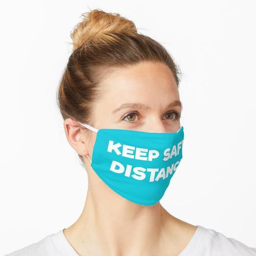 Sicherheitsabstand einhalten Maske