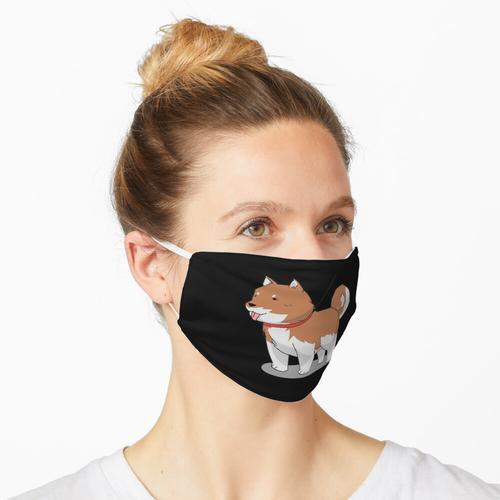 Süßer flauschiger Akita Inu Hund Maske