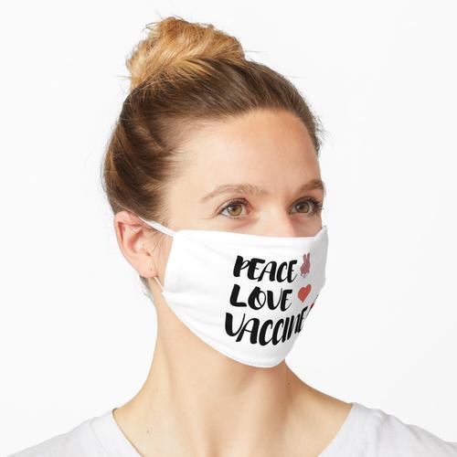 Friedensliebe und Impfstoff Pro-Impfstoff, Friedensliebe Impfstoffhemd, geimpftes Hemd, 2021 I Maske