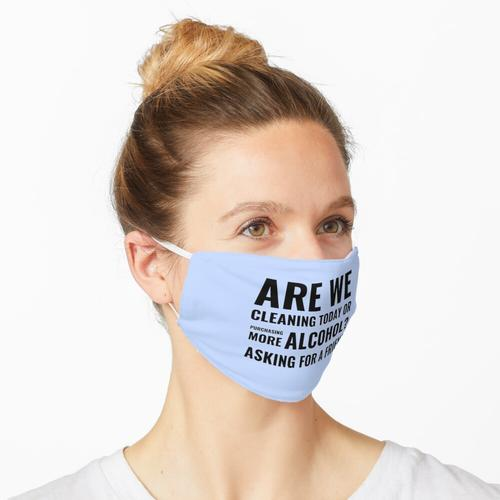 Putzen heute Spaß Putzen Crew Haushälterin Putzen Lady Geschenke Maske