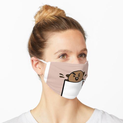 In einer Tasse wackelig Maske