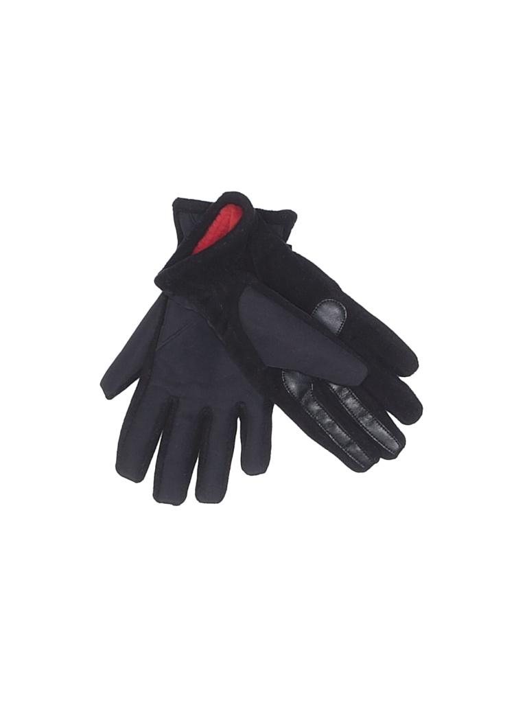 Isotoner Gloves: Black Solid Accessories - Size Medium