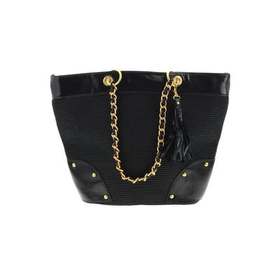 Global Glamour Fashion Tote Bag: Black Solid Bags