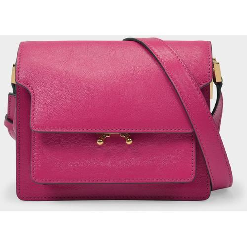 Marni Mini Tasche Trunk Soft Coffre aus rosafarbenem Leder