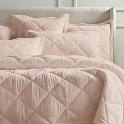 Willow Cotton Linen Quilt - Blus...
