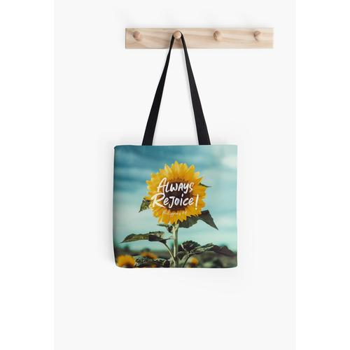 Always Rejoice! All Over Print Tote Bag
