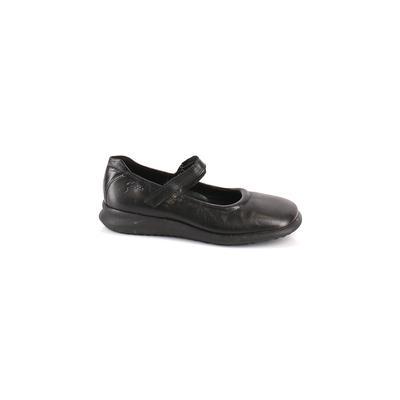 Ecco Flats: Black Solid Shoes - Size 5