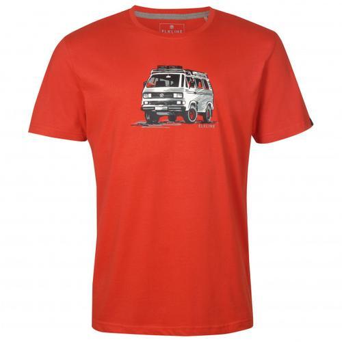 Elkline - Gassenhauer - T-Shirt Gr S rot