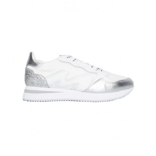 Manila Grace Damen Sneakers in Material-Mix Weiß