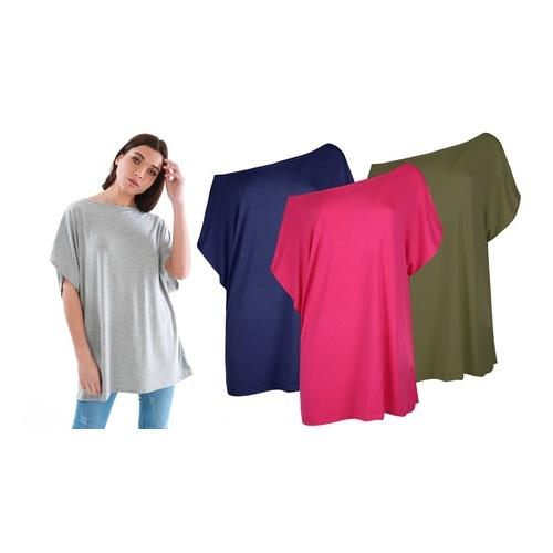 Oops Baggy-Top: Kirsche / Gr. XL-2XL
