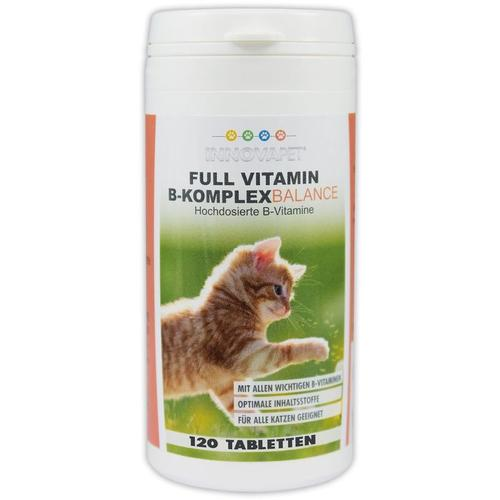 FULL VITAMIN B-Komplex Balance für Katzen 120 Tabletten (Hochdosierte B-Vitamine in Tablettenform