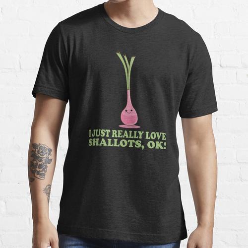Ich liebe Schalotten wirklich, ok! Süße Kawaii Schalotte Essential T-Shirt