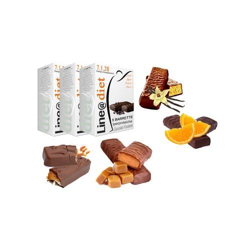 Protein-Riegel: 10er-Pack / 5x Schokoladenfondant und 5x Schokolade