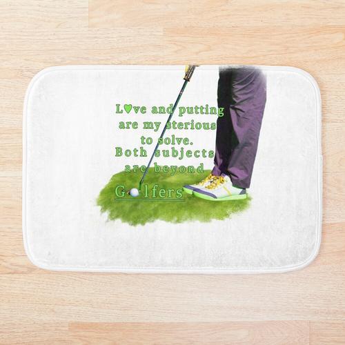 Golf Putting der Liebe Badematte