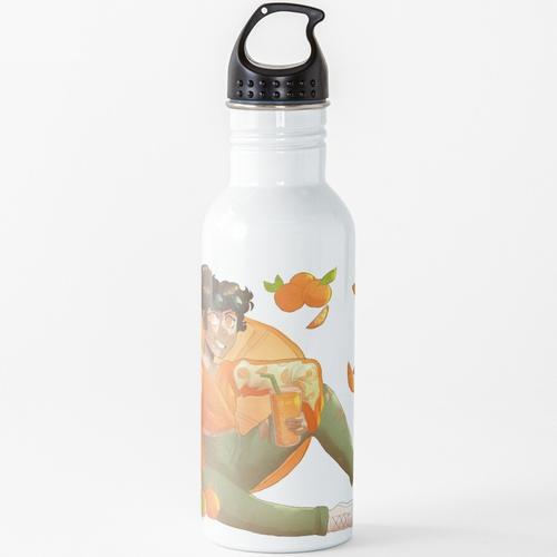 Orangensaft Wasserflasche