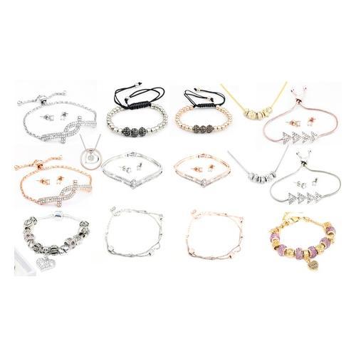 Schmuck-Set mit Swarovski®-Kristallen : Karma-Armband in Silber