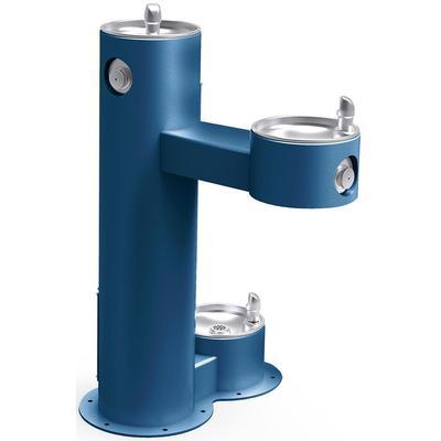 Elkay LK4420DBFRKBLU Bi Level Outdoor Drinking Fountain w/ Pet Fountain - Non Refrigerated, Blue