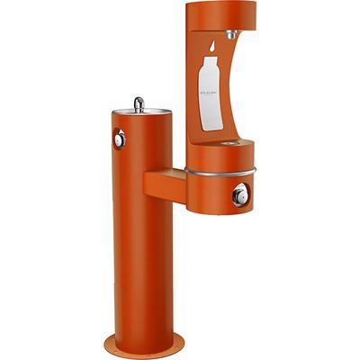 Elkay LK4420BF1LFRKTER Outdoor Bottle Filling Station & Drinking Fountain - Non Refrigerated, Terracotta