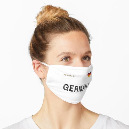 Deutschland Fußball Fan Trikot mit Herz Maske