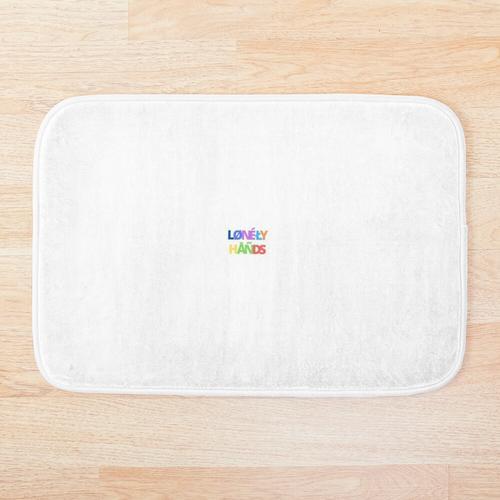 Einsame Hände - Kompaktes Weiß Badematte
