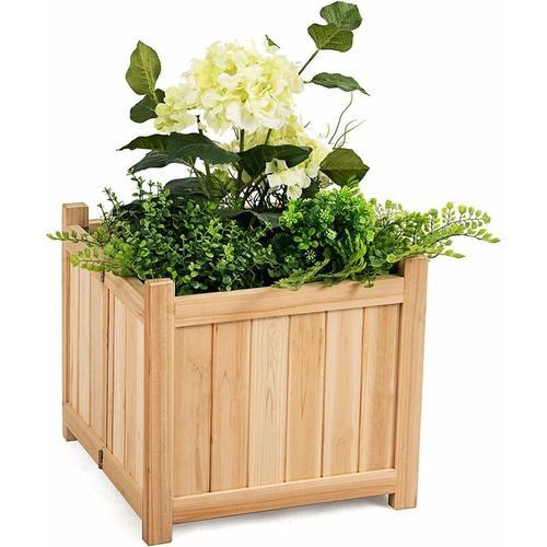 Blumenkasten Hochbeet Holz, Blumenbeet Blumentopf klappbar, Pflanzenbeete Blumentrog faltbar,