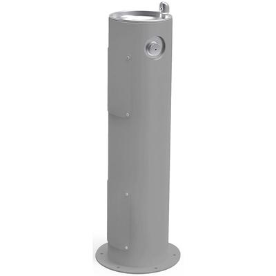"""Elkay 4400GRY Outdoor Pedestal Drinking Fountain - 14""""W x 14""""D x 40 1/3""""H, Non Refrigerated, Gray"""