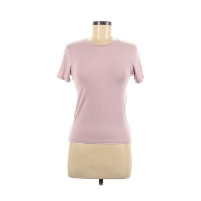 American Apparel - American Apparel Short Sleeve T-Shirt: Pink Solid Tops - Size Medium