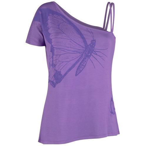 Full Volume by EMP Violettes T-Shirt mit Träger und Ärmel Damen-T-Shirt - violett