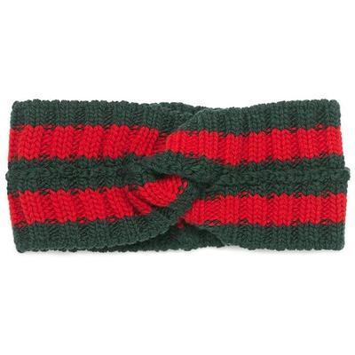 Gucci Bandeau en laine détail ba...