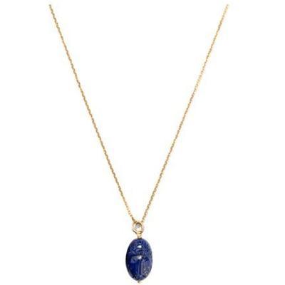 Aurelie Bidermann Pendentif Scarabée Lapis lazuli