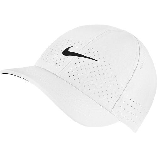 Nike U COURT ADVANTAGE Cap in white-black, Größe Einheitsgröße